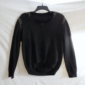 Urban Outfitters Black Cotton Sweater Silver Studs